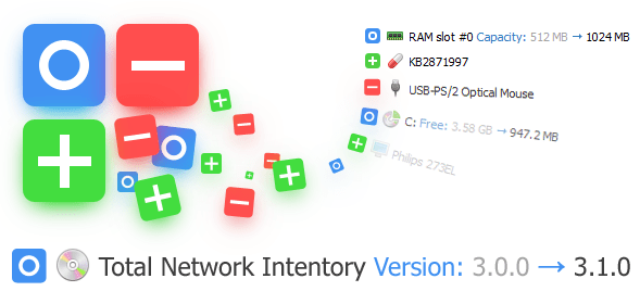 [Changed] Software item: Total Network Inventory — Version: 3.0.0 → 3.1.0